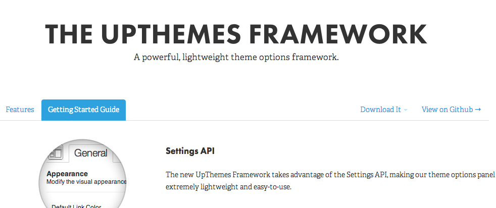 The UpThemes Framework